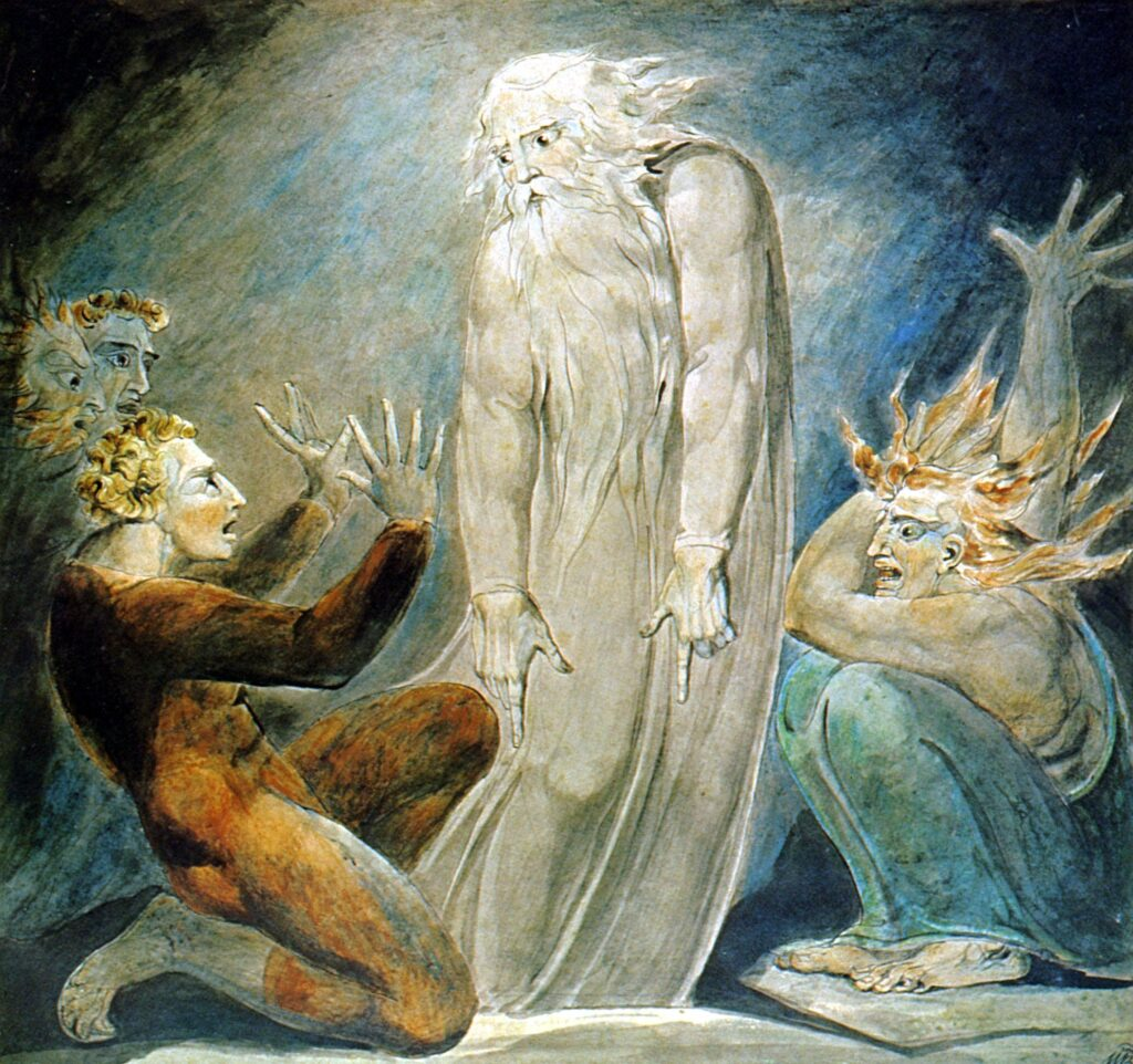 The Witch of Endor (William Blake) https://commons.wikimedia.org/wiki/File:The_Witch_of_Endor_(William_Blake)_2.jpg