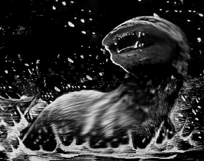 A sketch of the King Otter, drawn by eye witness and artist Sean Corcoran in 2010. By Bango Art CC BY-SA 3.0 Source https://en.wikipedia.org/wiki/Dobhar-ch%C3%BA#/media/File:Dobhar-chu_encounter.jpg