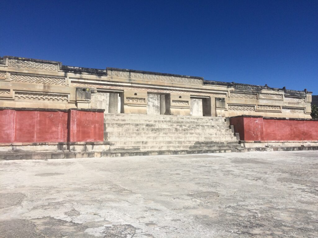 The palatial ruins in Mitla, Oaxaca, Mexico © Hilary Morgan Leathem