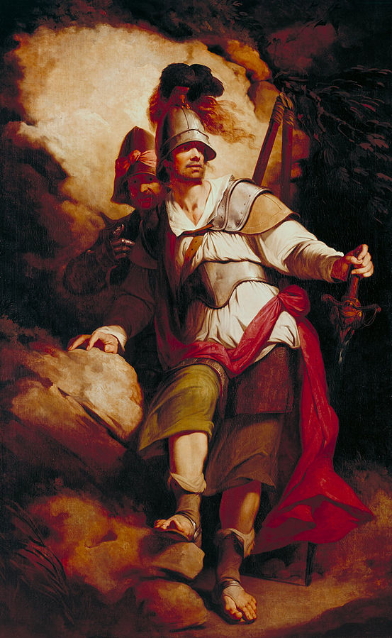 Sir Arthegal, the Knight of Justice, with Talus, the Iron Man. By John Hamilton Mortimer, Public Domain, https://commons.wikimedia.org/w/index.php?curid=13455842