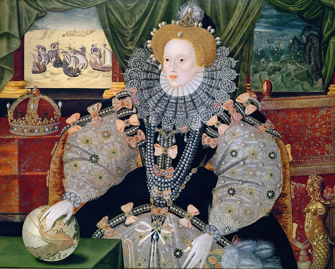 Elizabeth I of England, the Armada Portrait. Formerly attributed to George Gower, Public Domain, https://commons.wikimedia.org/w/index.php?curid=28313