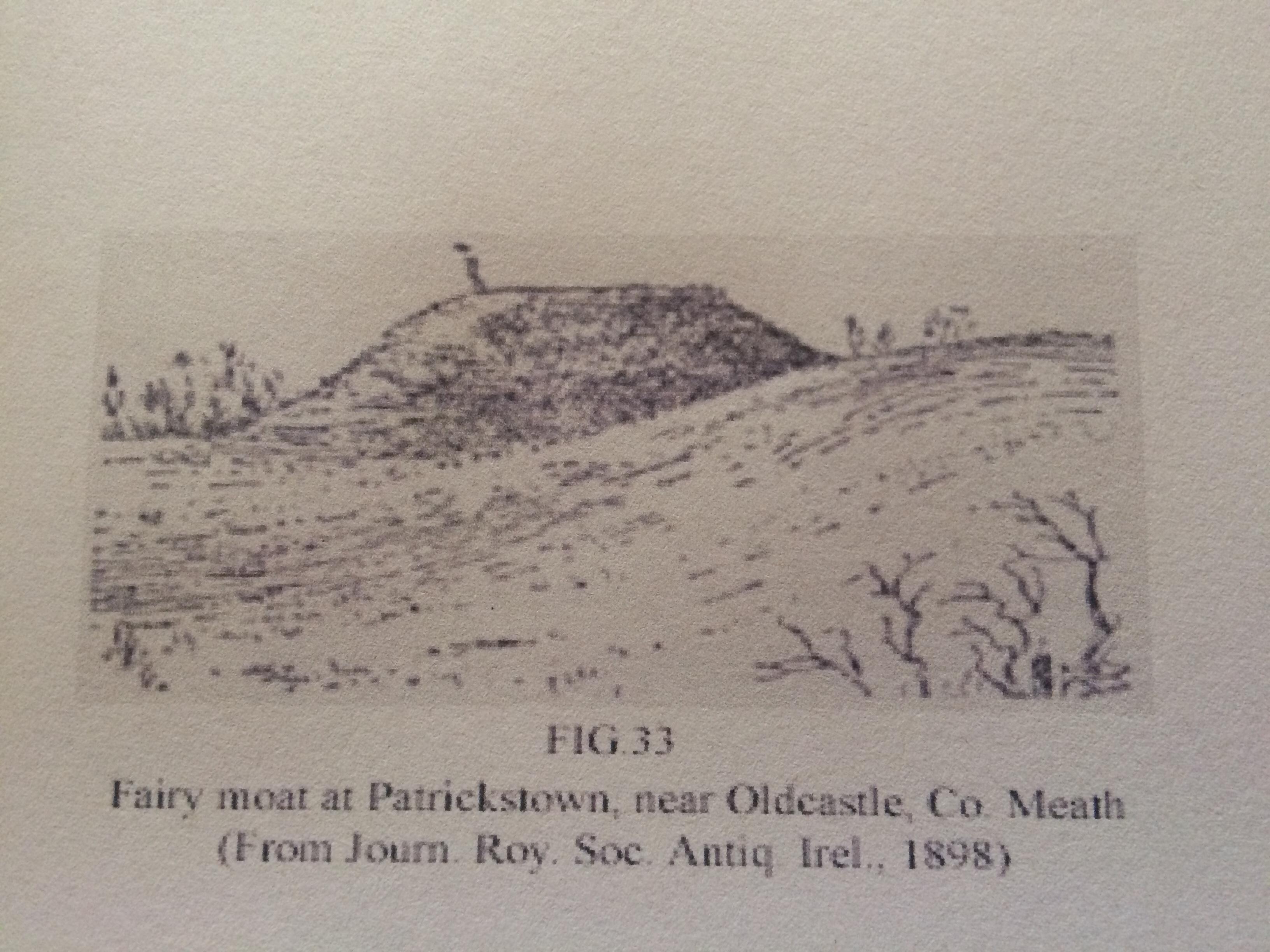 hand drawn fairy fort print 1898
