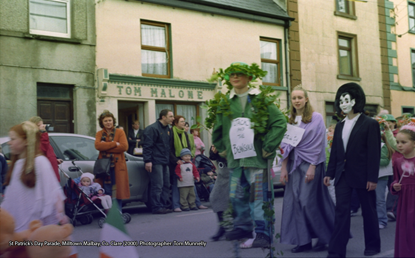 St Patrick's Day Parade, Milltown Malbay, Co. Clare (2000). Photographer: Tom Munnelly