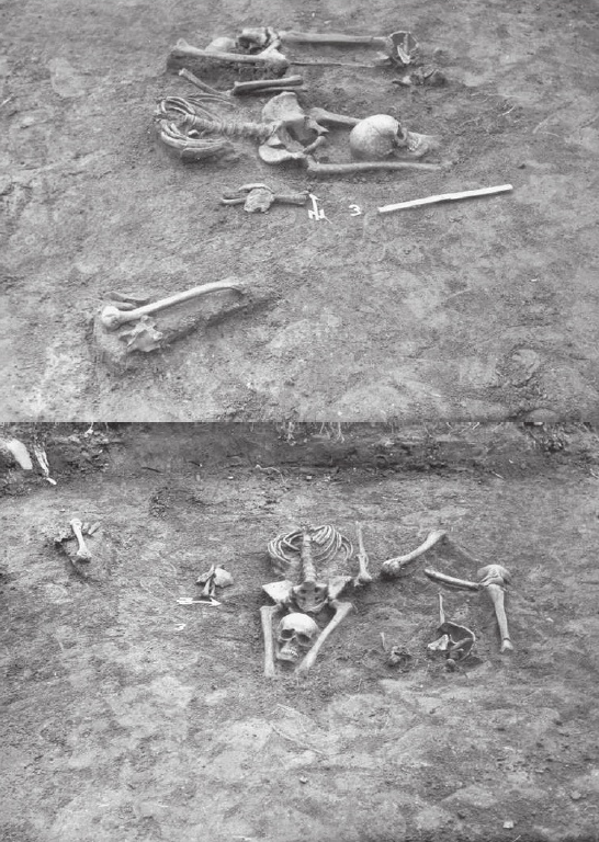 "A ""vampire burial"" in which the head has been placed between the corpse's legs in the hopes of preventing them from rising. By R. Biskupski - Kotowicz P. (2011) ""Wampir""', CC BY-SA 4.0"
