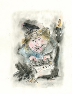Mother Goose, from The Mother Goose Letters © Karen Clavelle