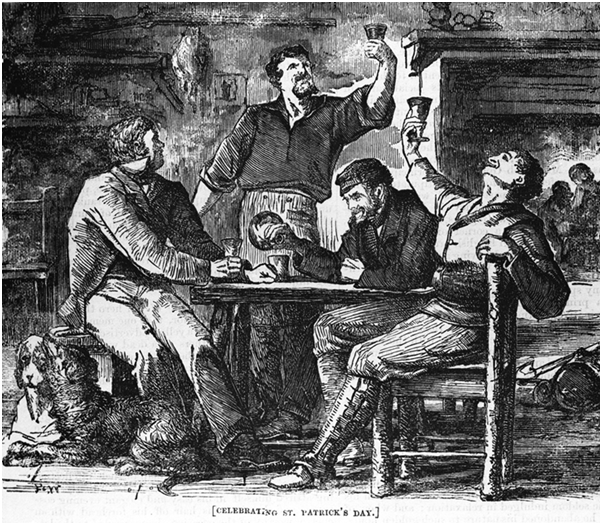 Celebrating St Patrick's Day, The Shamrock (1867)