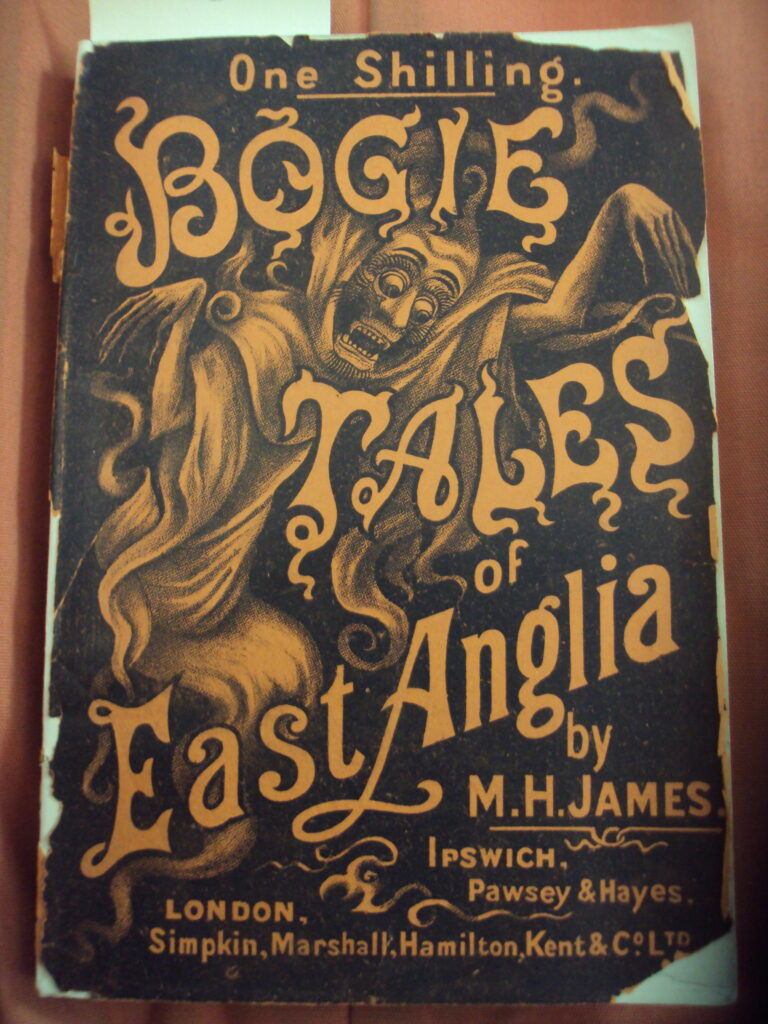The original front cover of James's Bogie Tales.