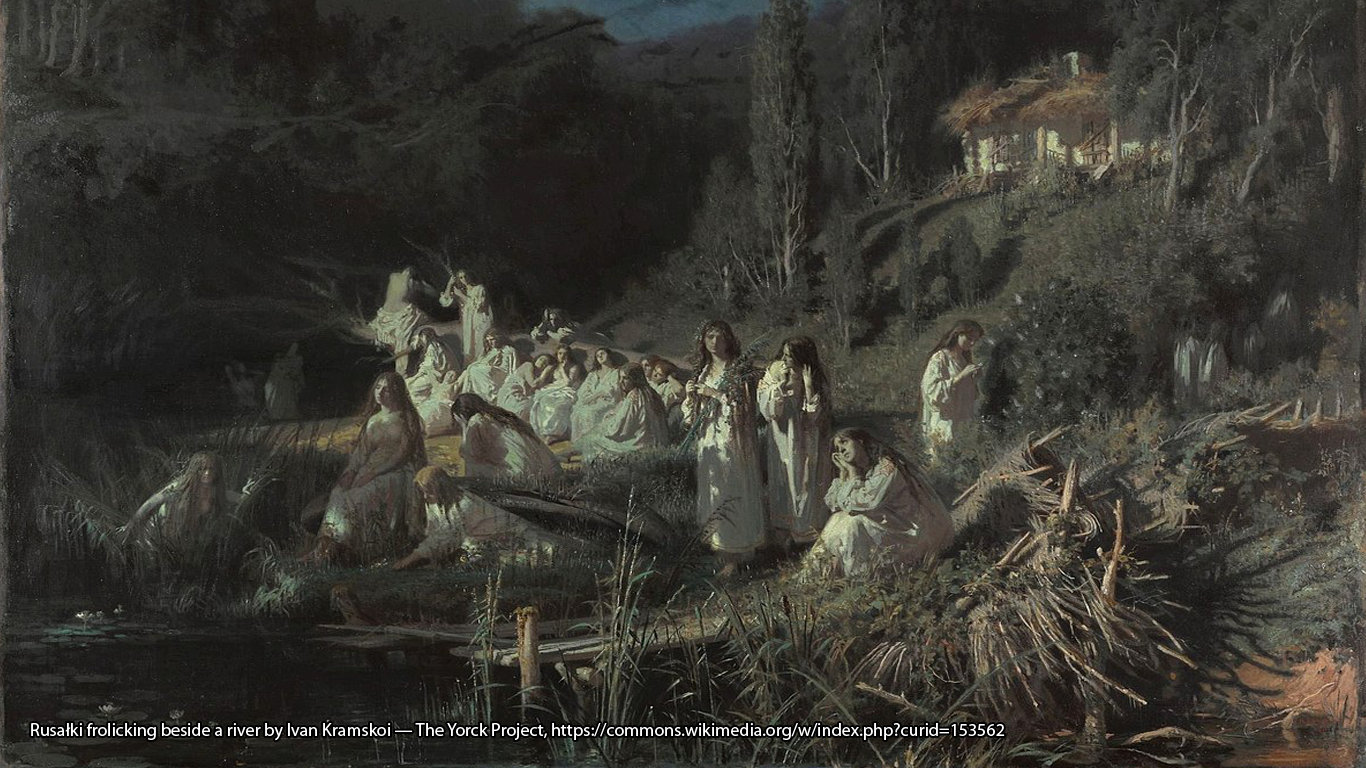 Rusałki frolicking beside a river by Ivan Kramskoi — The Yorck Project, https://commons.wikimedia.org/w/index.php?curid=153562
