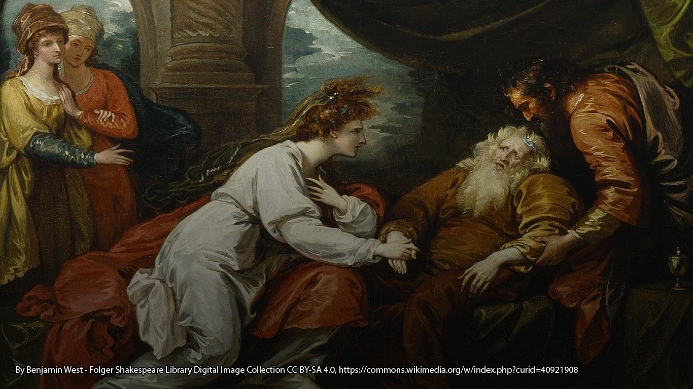 William Shakespeare's King Lear. By Benjamin West - Folger Shakespeare Library Digital Image Collection http://luna.folger.edu/luna/servlet/s/0847d6, CC BY-SA 4.0, https://commons.wikimedia.org/w/index.php?curid=40921908