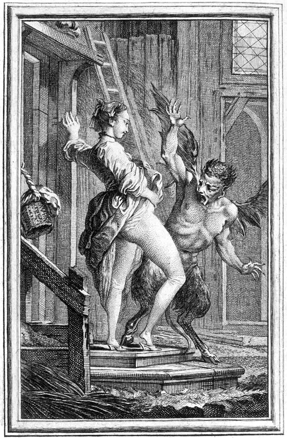 Anasyrma vs. the Devil by Charles-Dominique-Joseph Eisen, Public Domain, https://commons.wikimedia.org/w/index.php?curid=11447966
