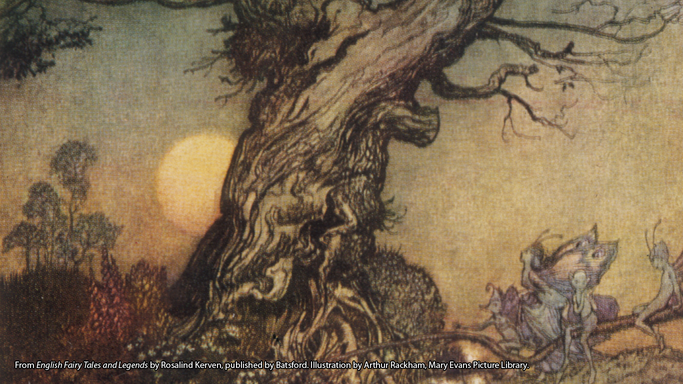 'The Weardale Fairies'. Extracted from English Fairy Tales and Legends by Rosalind Kerven, published by Batsford. Illustration by Arthur Rackham, Mary Evans Picture Library.