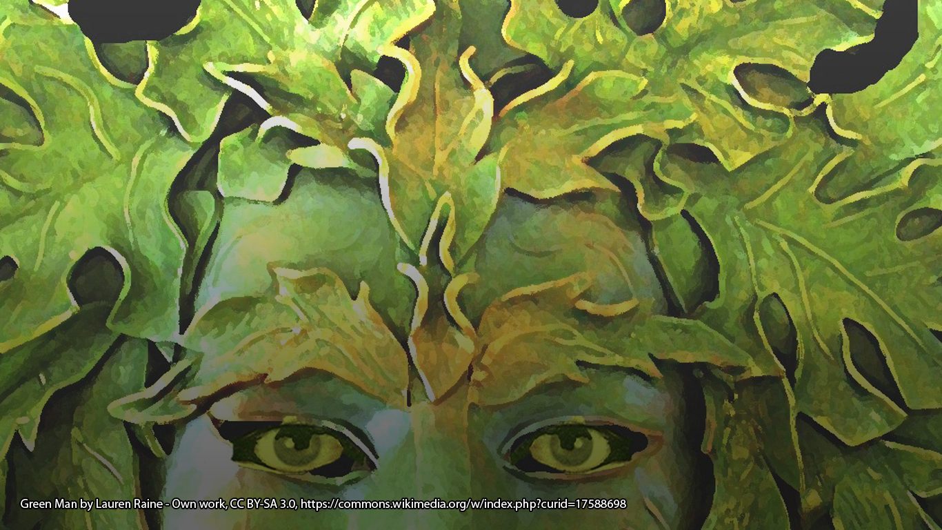 Green Man by Lauren Raine - Own work, CC BY-SA 3.0, https://commons.wikimedia.org/w/index.php?curid=17588698