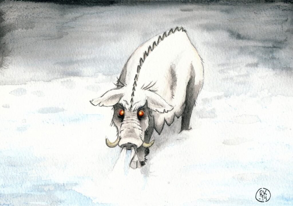 Gloson the Ghost Pig © Robin Kuusela