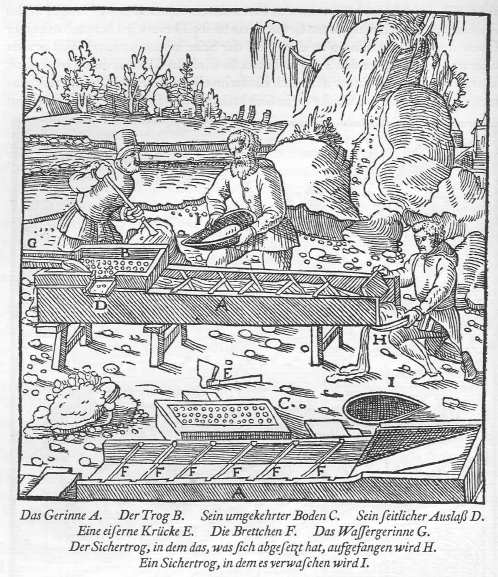 Georgius Agricola's De Re Metallica, 1556, described and depicted traditional mining technology with medieval roots. Public Domain https://commons.wikimedia.org/w/index.php?curid=11628537