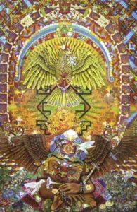 Resurrection of the Phoenix by Hánuman Dévildevangarísh Gúrudevásh Majárash Sáúmáménásh CC BY-SA 4.0,https://commons.wikimedia.org/w/index.php?curid=67641310