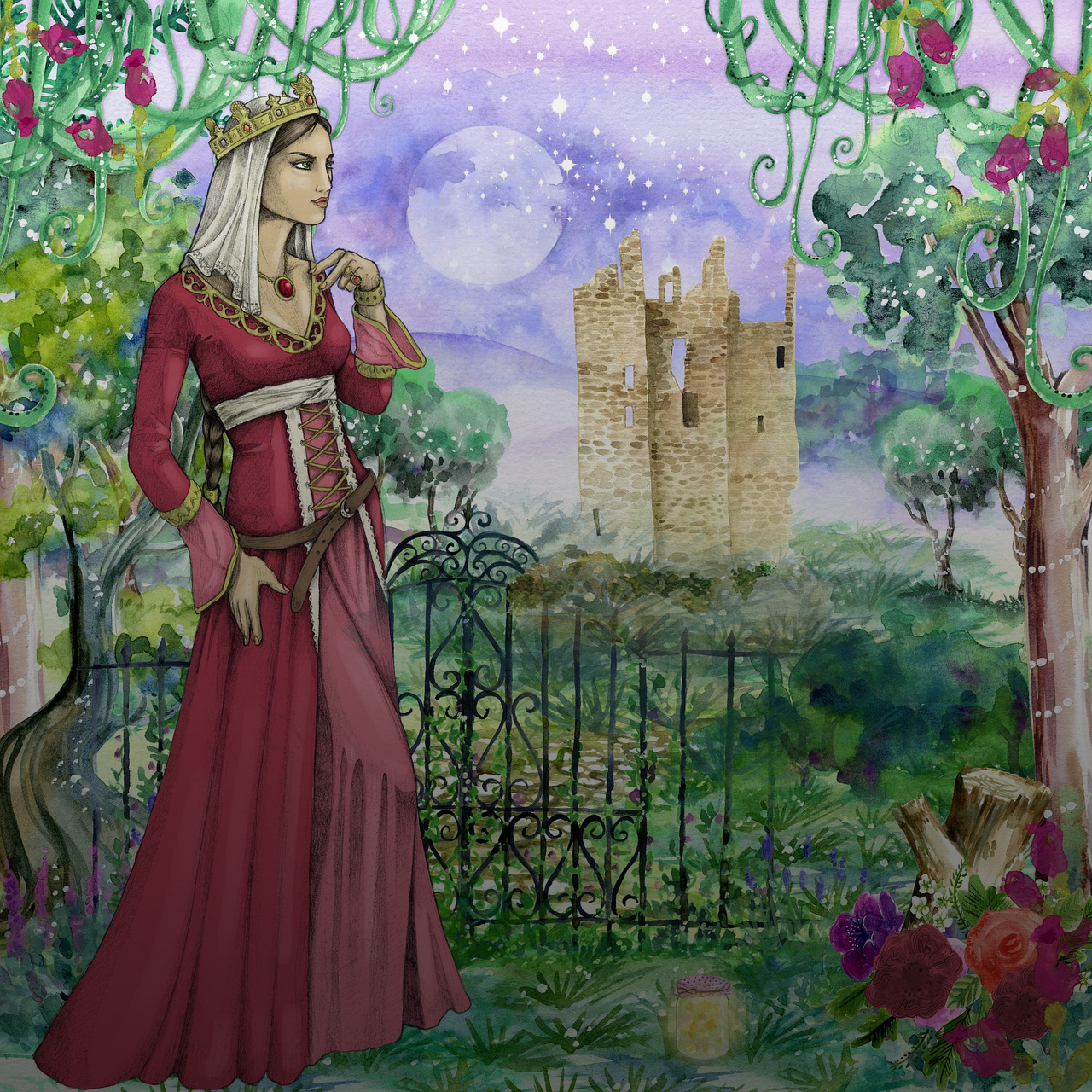 Princess by ArtsyBee https://pixabay.com/illustrations/princess-castle-fairy-tale-2789795/
