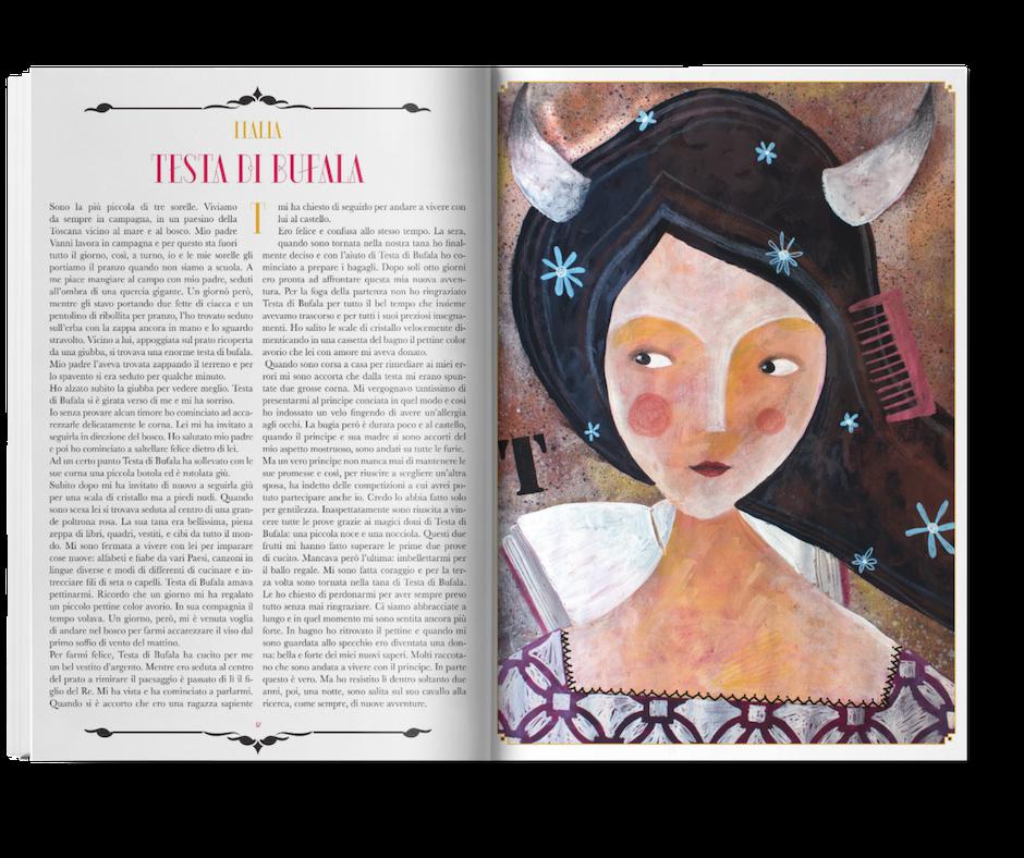 """Enrica Pizzicori's illustration for the tale """"Testa di Bufala"""" https://www.produzionidalbasso.com/project/l-alfabetiere-interculturale/"""