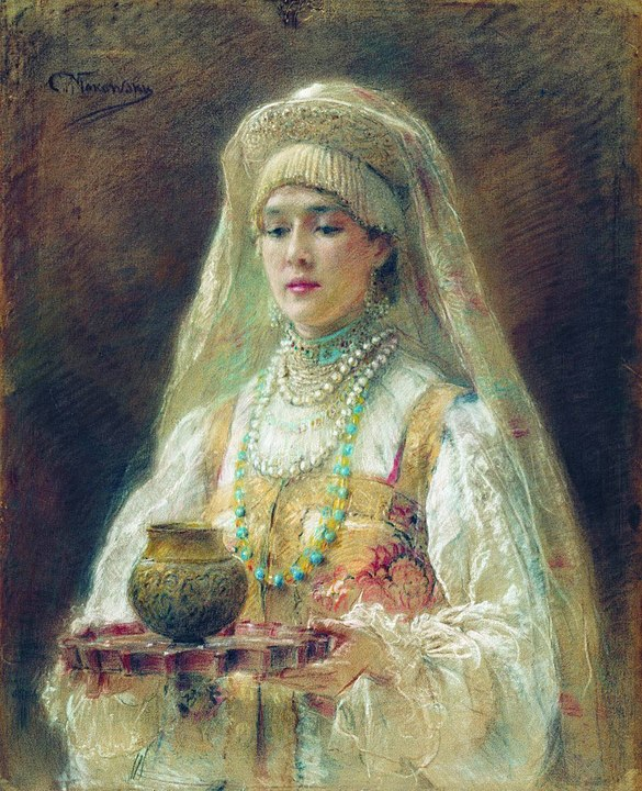 Cup of honey drink (mead). By Konstantin Makovsky - [1], Public Domain, https://commons.wikimedia.org/w/index.php?curid=2964384