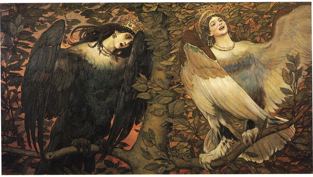Sirin & Alkonost By Viktor Mikhailovich Vasnetsov - Public Domain, https://commons.wikimedia.org/w/index.php?curid=216018