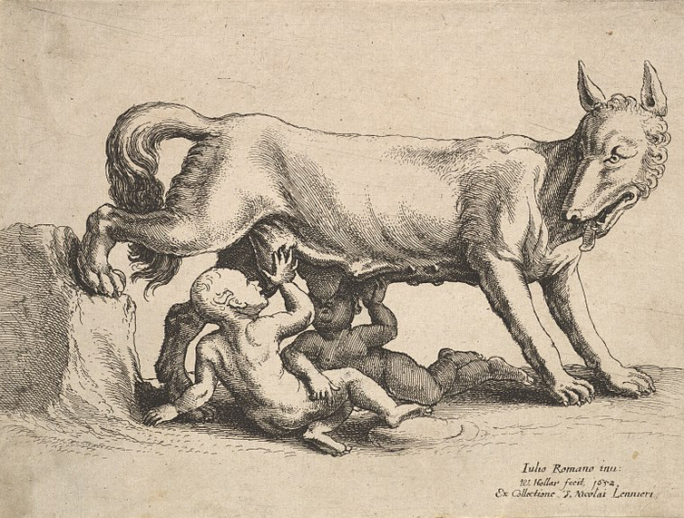 Romulus and Remus. By Giulio Romano - This file was donated to Wikimedia Commons as part of a project by the Metropolitan Museum of Art. See the Image and Data Resources Open Access Policy, CC0, https://commons.wikimedia.org/w/index.php?curid=60863590