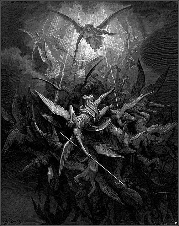 Battles in the sky (Paradise Lost, Gustave Doré) Public Domain https://commons.wikimedia.org/w/index.php?curid=678004