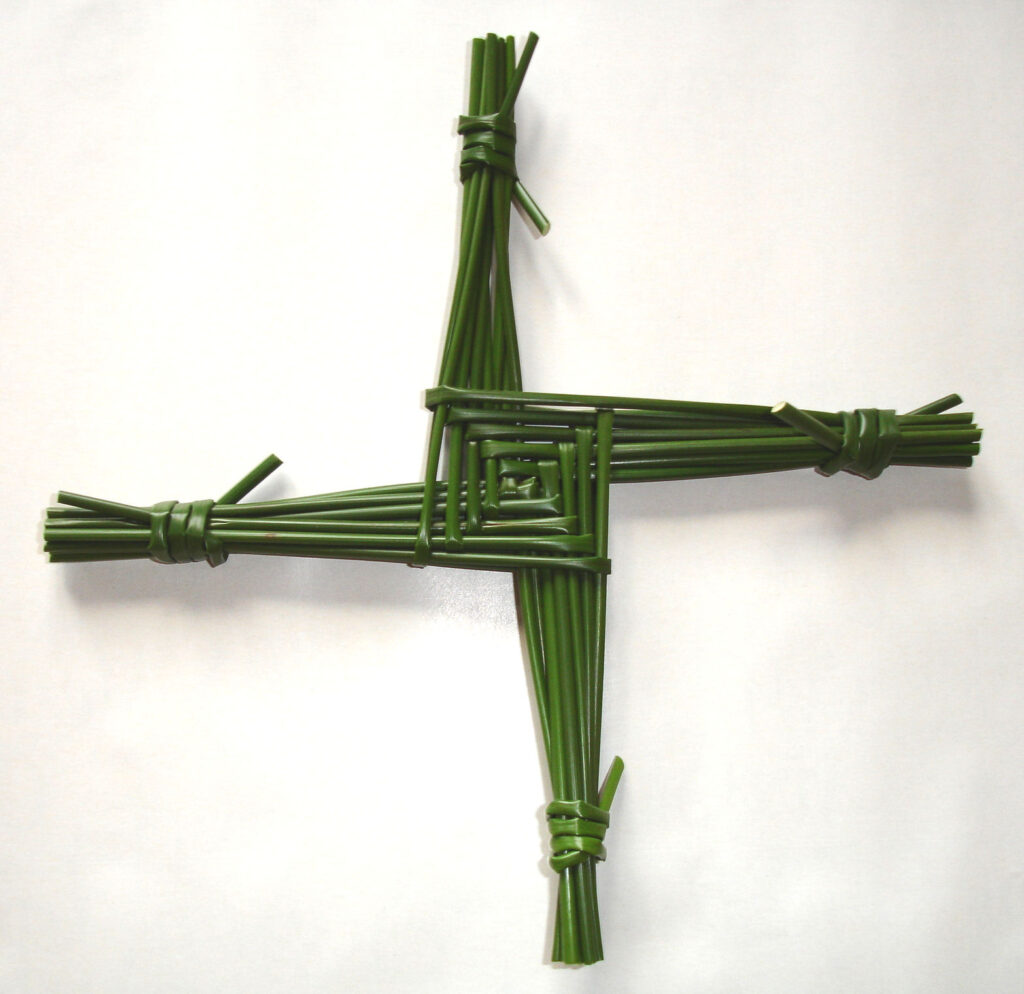A St Brigid's Cross woven from rushes. By Culnacreann, CC BY 3.0 https://commons.wikimedia.org/w/index.php?curid=3500722