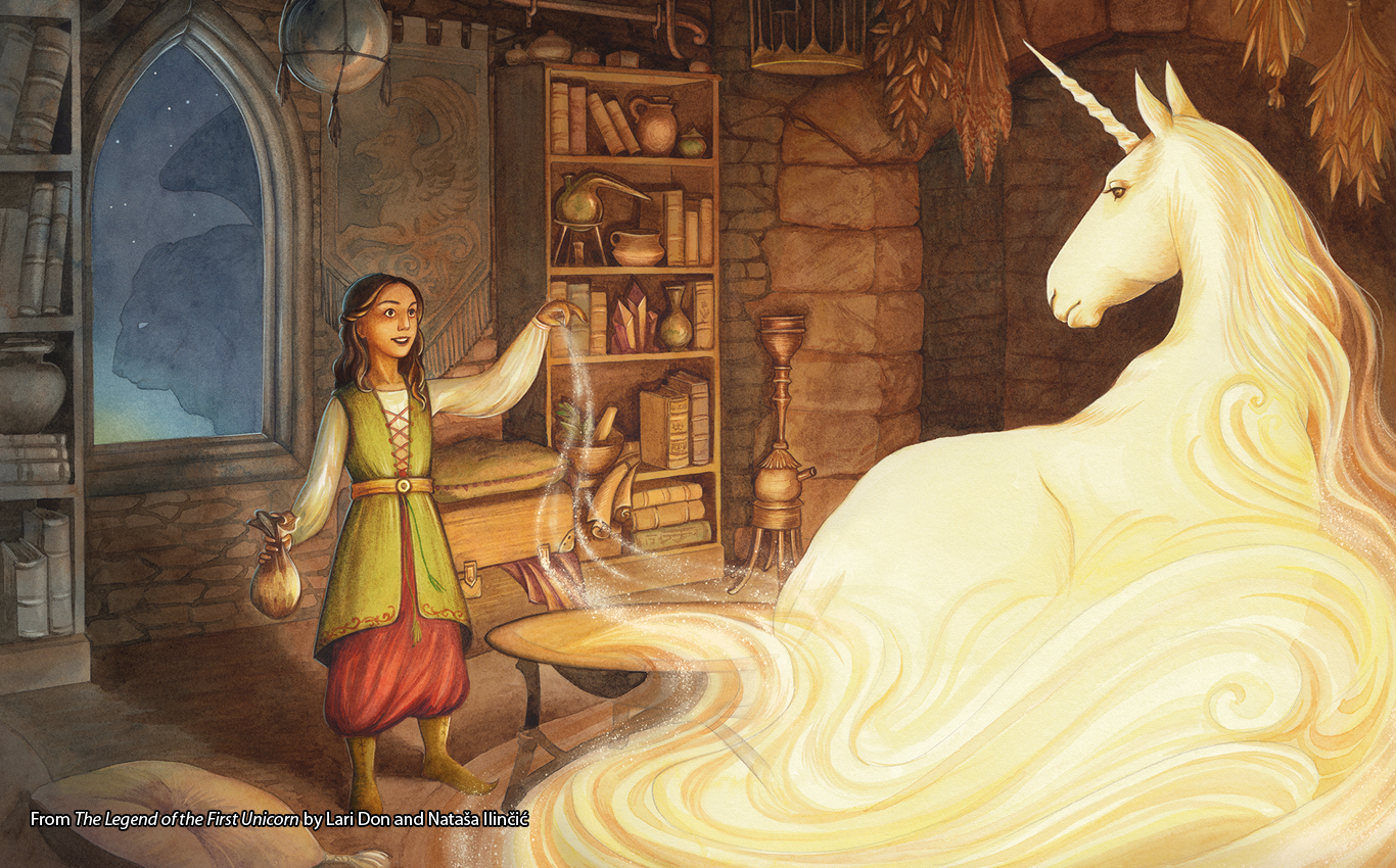 The Legend of the First Unicorn by Lari Don and Nataša Ilinčić