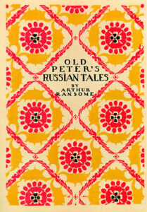 Book cover. The cover of 'Old Peter's Russian Tales', 1916, by Dmitry Mitrohin https://en.wikipedia.org/wiki/Old_Peter%27s_Russian_Tales#/media/File:Mitrohin_Old_Peter's_Russian_Tales.jpg