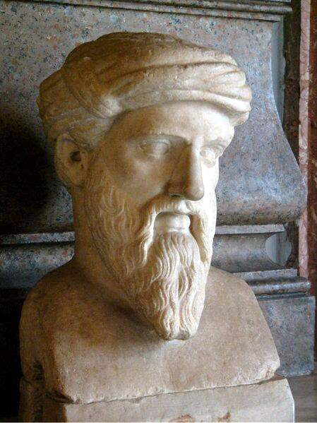 The mathematician Pythagoras, for whom numbers had huge significance. Public Domain https://commons.wikimedia.org/w/index.php?curid=2580073