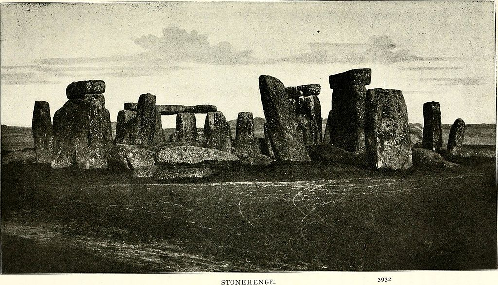 1887 photograph of Stonehenge. By Paul Carus , Internet Archive Book Images.