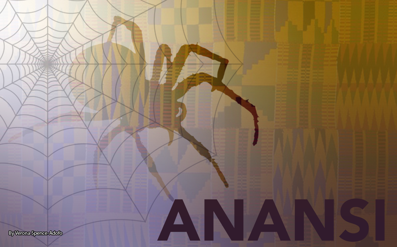 Anansi the spider. By Verona Spence-Adofo