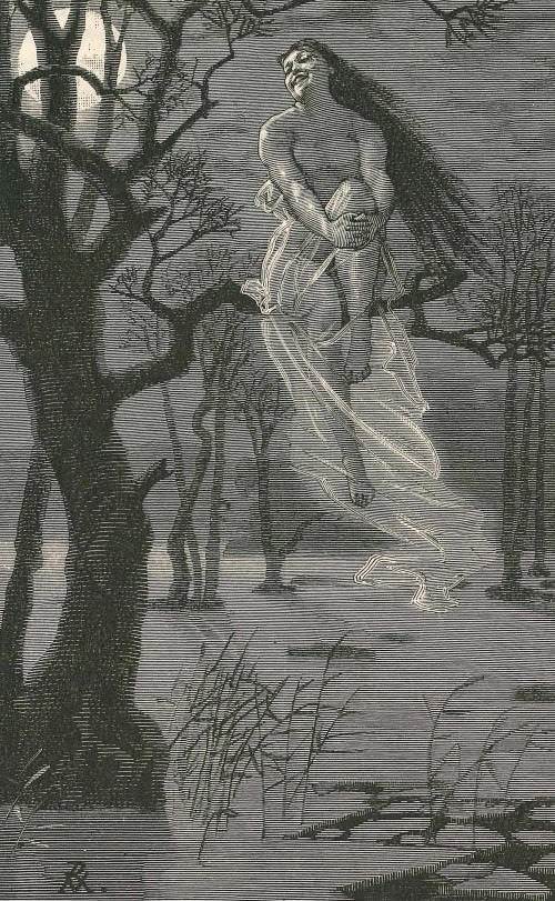Ysäters-Kajsa, a named Swedish forest spirit. Illustration by G. von Rosen.