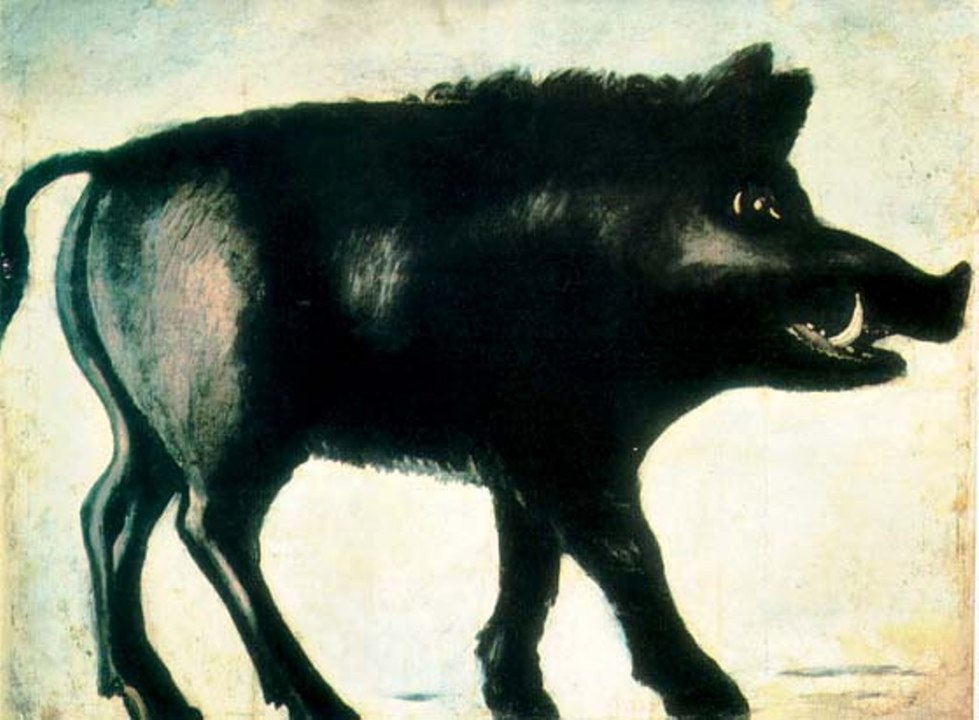 Black boar. By Niko Pirosmani - diary-or-notes.cocolog-nifty.comSource of the first version: www.russianavantgard.com, Public Domain, https://commons.wikimedia.org/w/index.php?curid=2636525