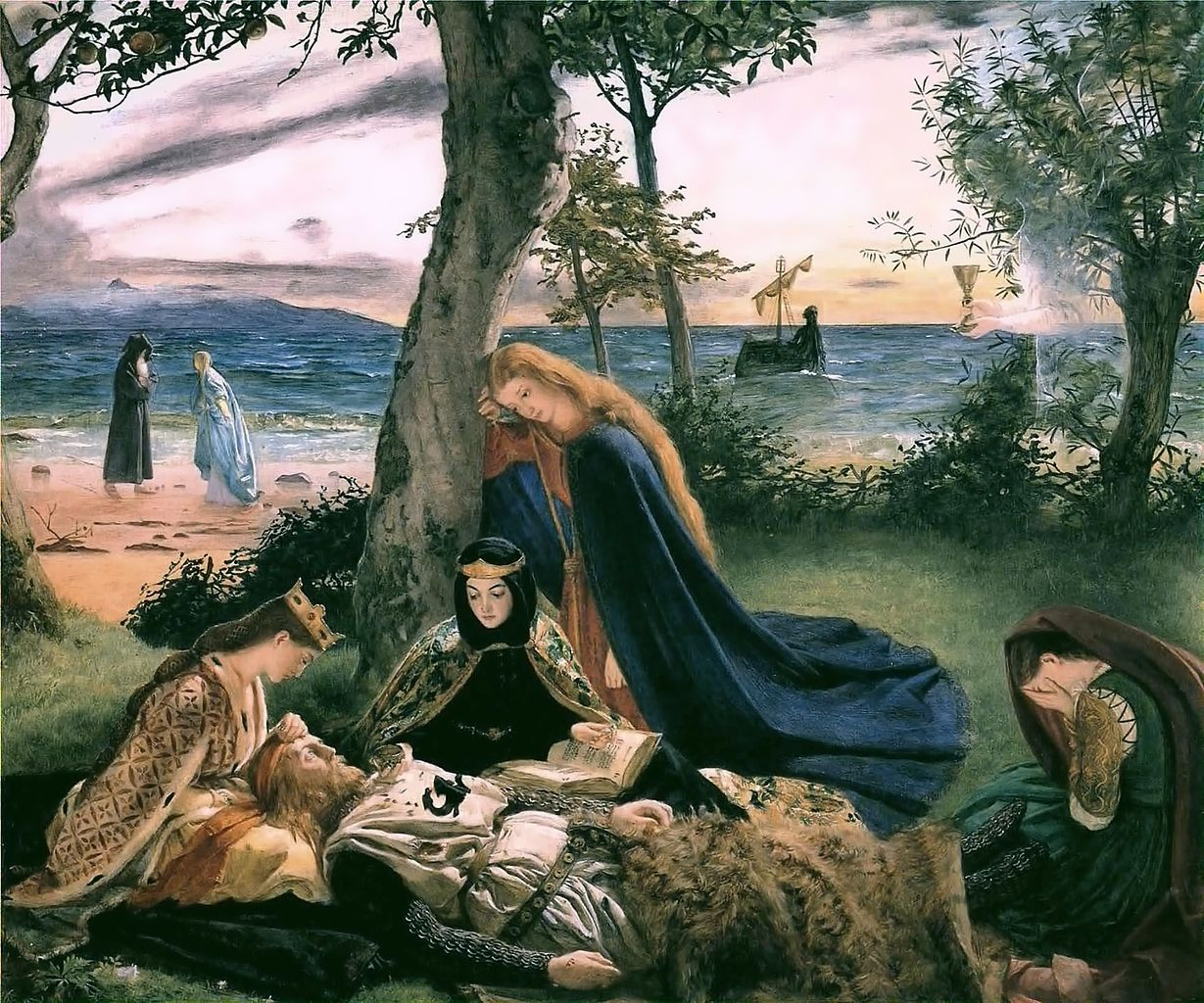 """The Death of King Arthur"" by James Archer. Public Domain, https://commons.wikimedia.org/w/index.php?curid=30188390"