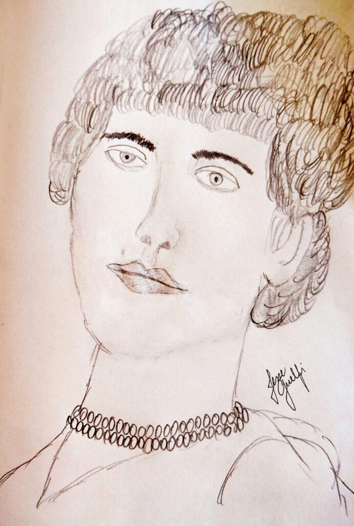 Artist's impression of Maria Augusta de Oliveira © Jesse Guelfi