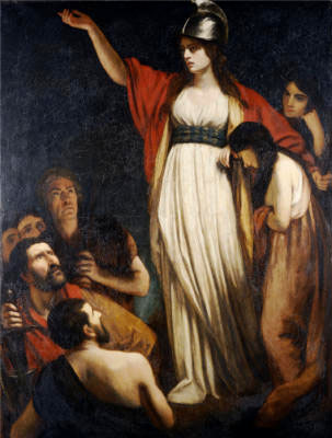 Boudica's Speaks to the Britons. By John Opie - Easy Art, Public Domain, https://commons.wikimedia.org/w/index.php?curid=6029871