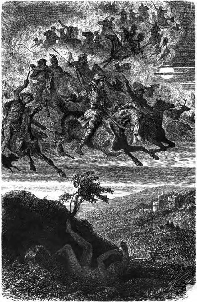 """""""Wodan's Wild Hunt"""" (1882) by Friedrich Wilhelm Heine"""