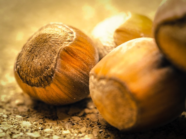 Hazel nuts by Thomas Breher from Pixabay https://pixabay.com/photos/hazelnuts-nuts-nutshells-food-949104/