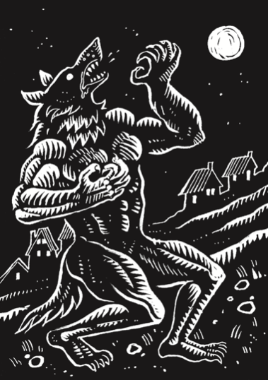 Werewolf under the moon